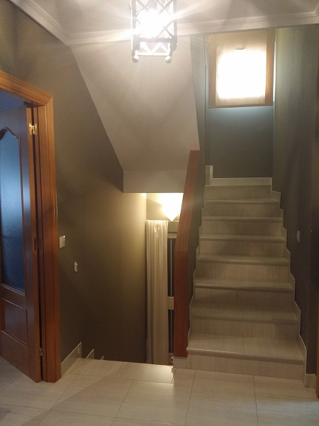escaleras de interior de obra